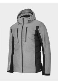 Szara kurtka narciarska outhorn melanż
