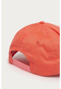 Pomarańczowa czapka z daszkiem Calvin Klein Jeans z nadrukiem