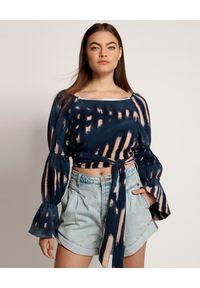 ONETEASPOON - Spodenki Kansas Streetwalkers. Stan: podwyższony. Kolor: niebieski. Materiał: jeans, bawełna. Wzór: aplikacja. Sezon: lato. Styl: vintage