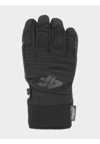 Czarne rękawiczki sportowe 4f Thinsulate, narciarskie