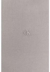 Szara koszula Calvin Klein Jeans klasyczna, gładkie, z klasycznym kołnierzykiem, na co dzień