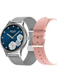 Smartwatch Pacific 18-5 Srebrny (PACIFIC 18-5 silver+pink). Rodzaj zegarka: smartwatch. Kolor: srebrny