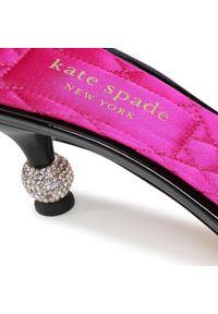 Czarne klapki Kate Spade