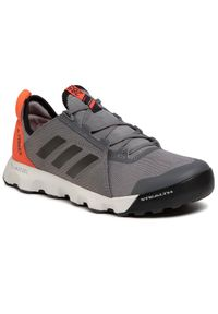 Szare buty do biegania Adidas z cholewką, ClimaCool (Adidas), Adidas Terrex