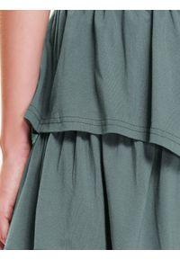 Zielona spódnica TROLL sportowa, w kolorowe wzory #7