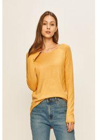 Żółty sweter only raglanowy rękaw, na co dzień, casualowy