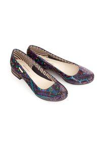 Baleriny Zapato w kolorowe wzory, wąskie, bez zapięcia, klasyczne