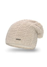 Zimowa czapka damska PaMaMi - Beżowy. Kolor: beżowy. Materiał: poliamid, akryl. Sezon: zima
