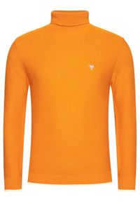 Pomarańczowy golf Guess z golfem