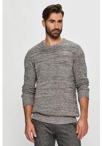 Czarny sweter Tailored & Originals na co dzień, casualowy, długi, z okrągłym kołnierzem