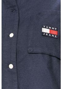 Niebieska koszula Tommy Jeans na co dzień, z klasycznym kołnierzykiem
