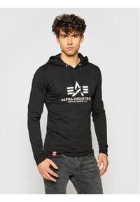 Alpha Industries Bluza Basic 116572 Czarny Slim Fit. Kolor: czarny