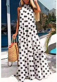 Długa sukienka IVET casualowa, na co dzień, w kropki