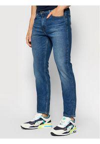 Lee Jeansy Slim Fit Rider L701ROEM Niebieski Slim Fit. Kolor: niebieski. Materiał: elastan, jeans, poliester, bawełna