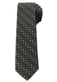 Krawat Męski, Beżowo-Brązowe Romby - 6 cm - Angelo di Monti, Kolorowy. Kolor: beżowy, brązowy, wielokolorowy. Wzór: geometria