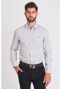 Biała koszula Trussardi Jeans casualowa, na lato, na spotkanie biznesowe