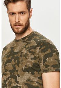 Oliwkowy t-shirt PRODUKT by Jack & Jones casualowy, na co dzień