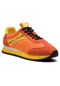 Pomarańczowe sneakersy Calvin Klein Jeans