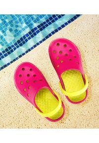 REALPAKS - Klapki dziecięce Realpaks F-401 Różowo-Zielone. Okazja: na plażę. Kolor: różowy, zielony, wielokolorowy. Materiał: tworzywo sztuczne. Styl: młodzieżowy