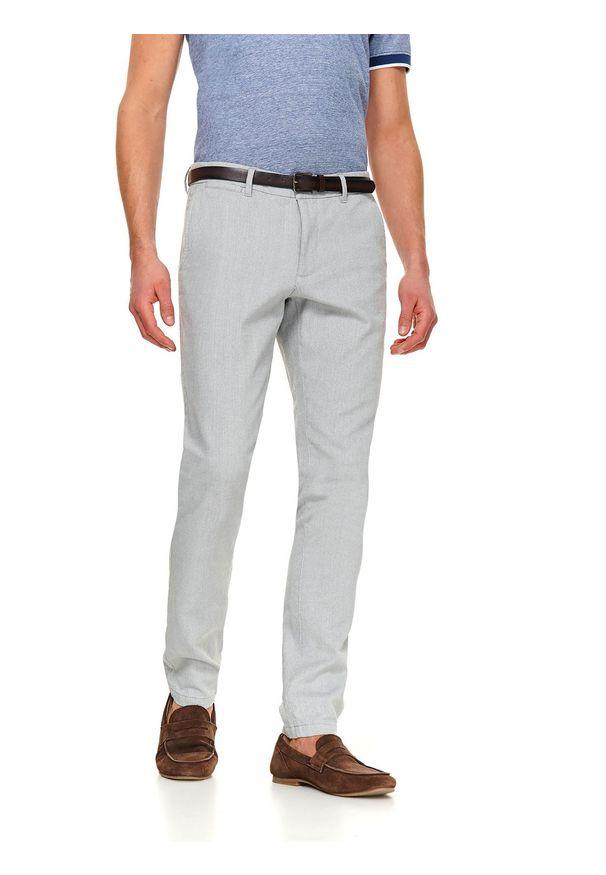 Szare spodnie TOP SECRET eleganckie, na lato, w kolorowe wzory
