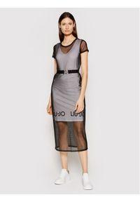 Czarna sukienka Liu Jo Sport sportowa, casualowa, na co dzień