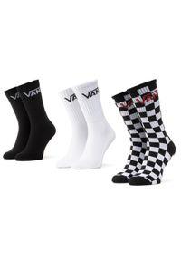 Vans - Zestaw 3 par wysokich skarpet unisex VANS - Mn Classic Crew VN000XRZ95Y1 Black/Checkerboard. Kolor: wielokolorowy, biały, czarny. Materiał: materiał, poliester, bawełna, elastan, nylon