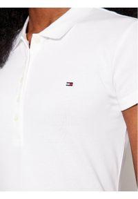 TOMMY HILFIGER - Tommy Hilfiger Polo 1M57636661 Biały Slim Fit. Typ kołnierza: polo. Kolor: biały