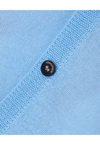 HEMISPHERE - Niebieski kardigan z wełny. Okazja: na co dzień. Kolor: niebieski. Materiał: wełna. Długość rękawa: długi rękaw. Długość: długie. Styl: klasyczny, casual