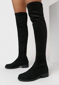 Born2be - Czarne Kozaki Ismiore. Nosek buta: okrągły. Zapięcie: zamek. Kolor: czarny. Szerokość cholewki: normalna. Wzór: gładki. Wysokość cholewki: przed kolano. Obcas: na obcasie. Styl: klasyczny, elegancki. Wysokość obcasa: niski