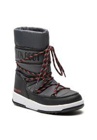 Szare buty zimowe Moon Boot sportowe