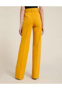Luisa Spagnoli - LUISA SPAGNOLI - Spodnie w kant Osten. Kolor: żółty. Materiał: wiskoza