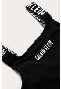 Czarny strój jednoczęściowy Calvin Klein z nadrukiem, z odpinanymi ramiączkami