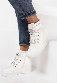 Białe buty sportowe Born2be na koturnie