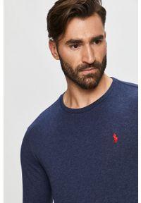 Niebieska koszulka z długim rękawem Polo Ralph Lauren polo, na co dzień, casualowa
