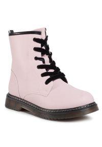 Różowe buty zimowe Nelli Blu z cholewką