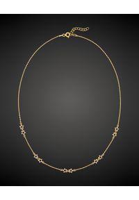 SIN BY MANNEI - Naszyjnik ze złota Stardust. Materiał: złote. Kolor: złoty. Wzór: aplikacja