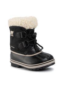 Czarne śniegowce sorel z cholewką