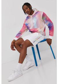 Wielokolorowa bluza nierozpinana Calvin Klein Jeans z kapturem, casualowa, na co dzień