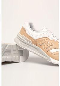 Sneakersy New Balance z cholewką, z okrągłym noskiem, na sznurówki