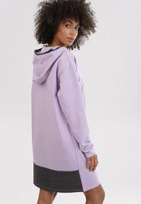 Fioletowa bluza rozpinana Born2be