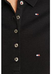 Niebieska bluzka TOMMY HILFIGER krótka, na co dzień