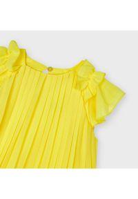 Mayoral Sukienka elegancka 3911 Żółty Regular Fit. Kolor: żółty. Styl: elegancki