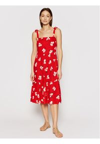 Czerwona sukienka letnia Banana Moon