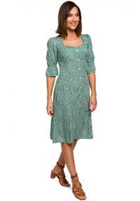 Style - Wyjątkowa sukienka w drobne kwiaty. Materiał: materiał. Wzór: kwiaty. Sezon: lato