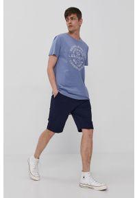 Niebieskie szorty Tom Tailor gładkie, casualowe
