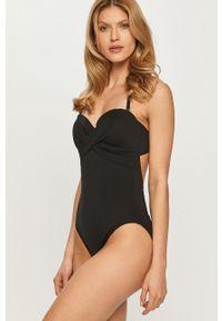 Czarny strój kąpielowy Kate Spade gładki