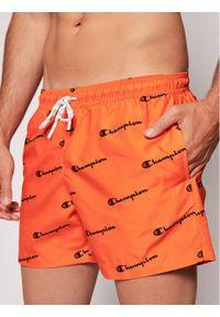 Pomarańczowe spodenki sportowe Champion z nadrukiem