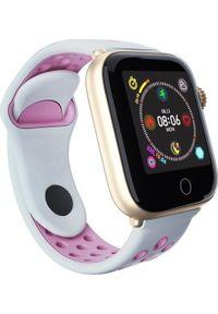 Różowy zegarek Roneberg smartwatch