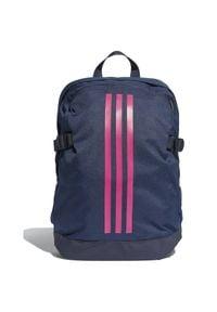 Adidas - Plecak adidas 3 Stripes Power Medium DM7682. Materiał: tkanina, poliester. Wzór: ze splotem, paski