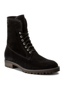 Czarne buty zimowe Gino Rossi z cholewką, klasyczne